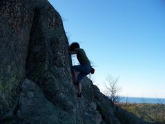 Rock Climbing Photo: Climbing on west harlow peak, harlow lake road CR ...