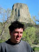 Rock Climbing Photo: Adam. Devils Tower. Spring '03.