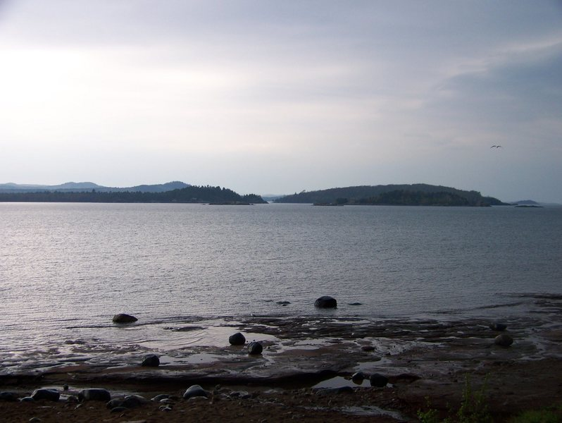 Rock Climbing Photo: Islands and the North Marquette range.