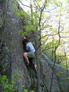 Rock Climbing Photo: John climbing a Rattly OW crack, west harlow peak