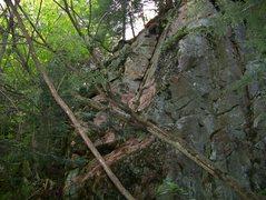 Rock Climbing Photo: Zac making the exit