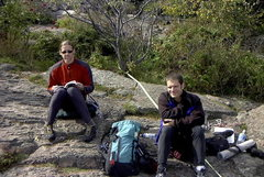 Rock Climbing Photo: Me and Mark at the North Shore. Fall '02.