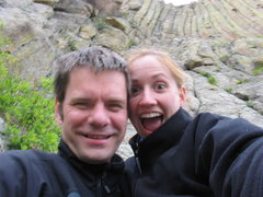 Rock Climbing Photo: With Krista at Devils Tower. Fall '03.