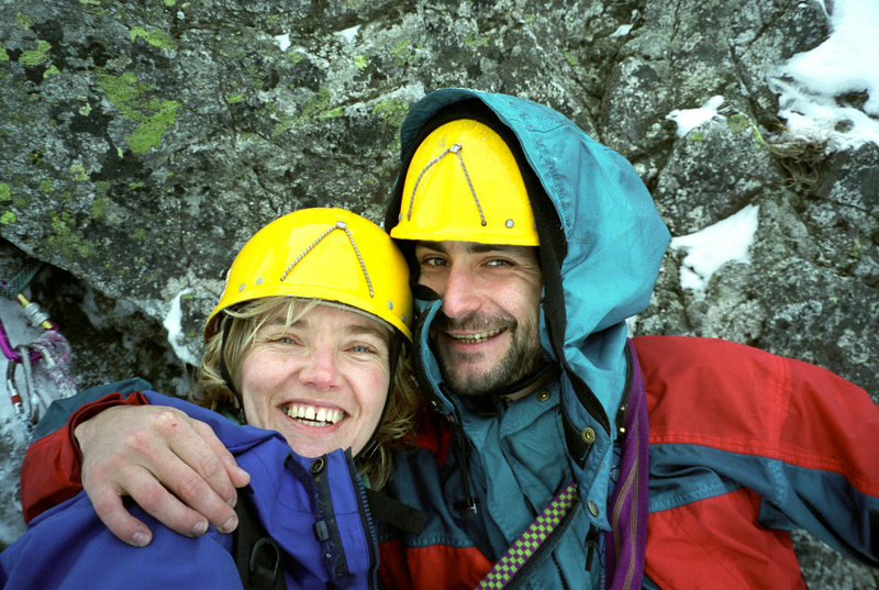 Rock Climbing Photo: Alicja and Artur. Polish Tatras. Winter '97.