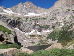 Rock Climbing Photo: McHenerys peak with black lake falls below