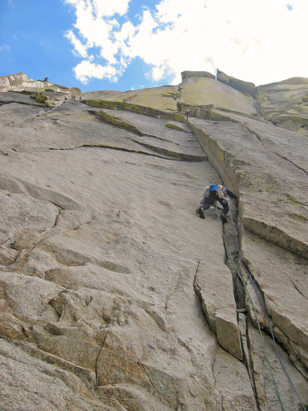 Kris Solem heading up a Needles classic, Igor Unchained on the Witch.