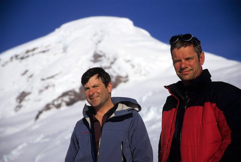 Pat and I after climbing Coleman Headwall. Mt. Baker. Summer '06.