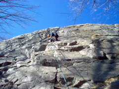 Rock Climbing Photo: Leading the trade route (5.8)
