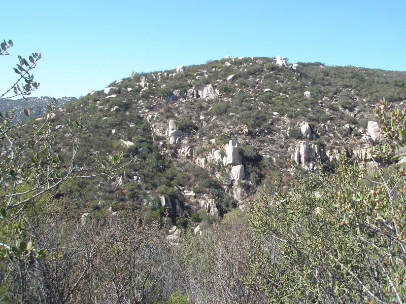 View of Ortega boulders