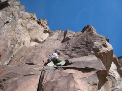 Rock Climbing Photo: Devin Shunk ready for the business on Beginner's H...