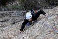 Rock Climbing Photo: Romain climbs past the sixth bolt of Adaptive Expe...
