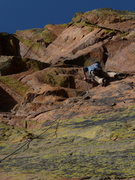 Rock Climbing Photo: Scott about to come face to face with the crux of ...