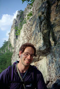 Rock Climbing Photo: Bob Batterman under West Pole in Seneca Rocks. Sum...