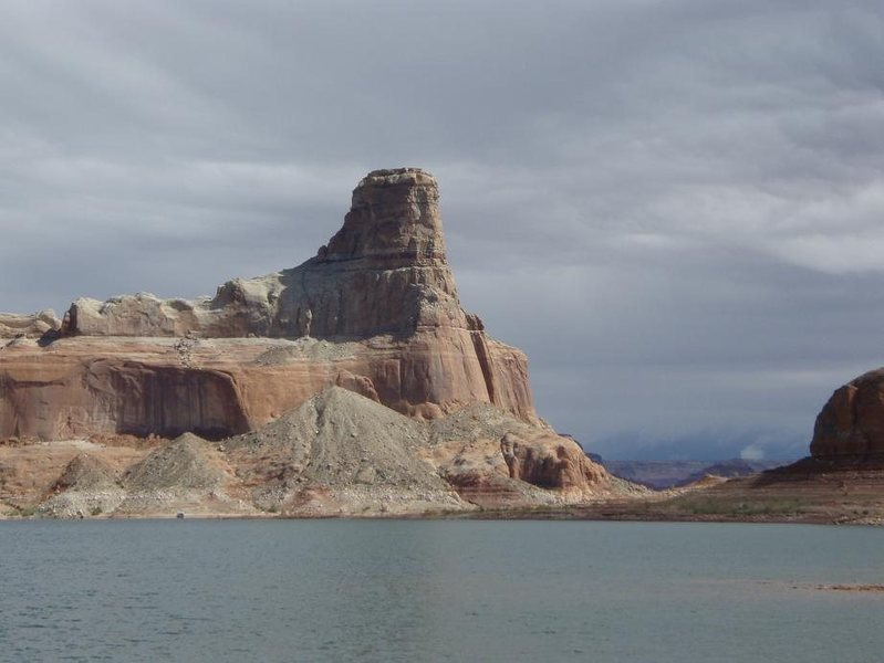 Gunsight Butte near mile 17... made it up two pitches on the south side, bailed from a bolt.