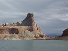 Rock Climbing Photo: Gunsight Butte near mile 17... made it up two pitc...