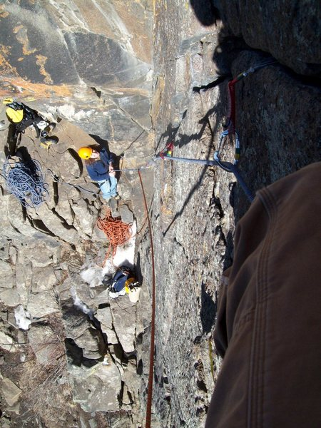 Rock Climbing Photo: Doug at the belay.