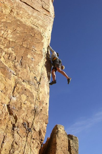 Rock Climbing Photo: Stuck the move!!