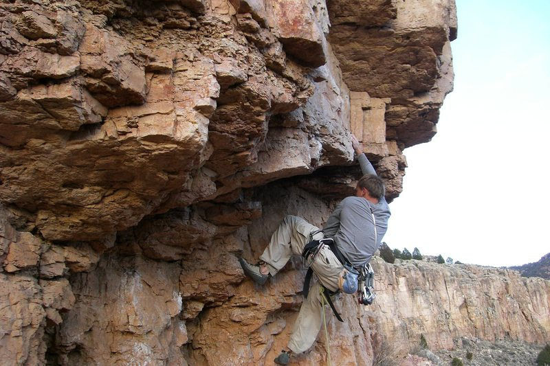 Zack dismantling the crux