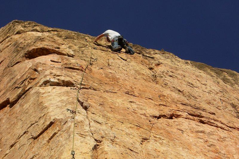 Rock Climbing Photo: Finishing up Illegal Smile