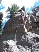 Rock Climbing Photo: BH on FA of the Steeple Chase.
