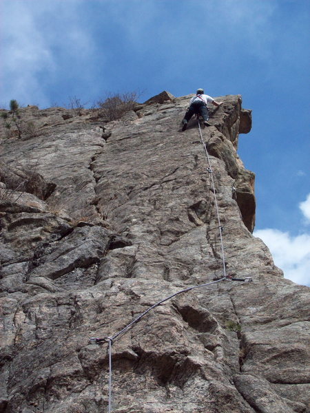 Rock Climbing Photo: Mike Houtzer leading Werner's.