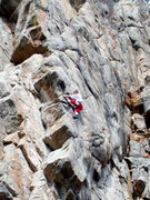 Rock Climbing Photo: Jim Erickson leading Dreamer's Dream, photo: Bob H...