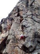 Rock Climbing Photo: Jim Erickson stemming his way up The Producers aka...