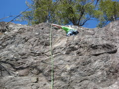 Rock Climbing Photo: Adam clipping the 3rd draw on Things You Should Ha...