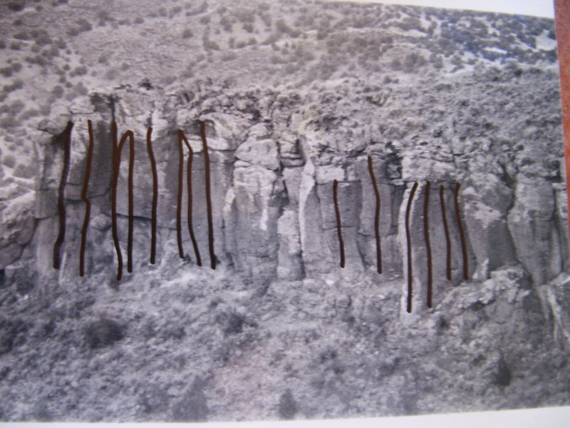 Rock Climbing Photo: Left side of the Overlook N. I have lost the numbe...