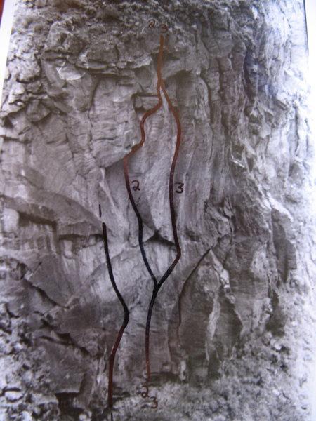 Rock Climbing Photo: Lower PG buttress.