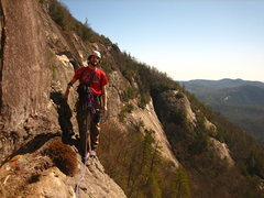 Rock Climbing Photo: Brian enjoying the sun at the top of our second pi...
