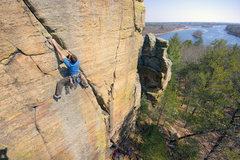 Rock Climbing Photo: Henning Boldt on Y-Crack in Necedah, WI. 21 march ...