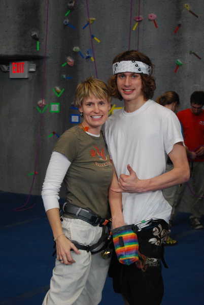 Rock Climbing Photo: mom and son