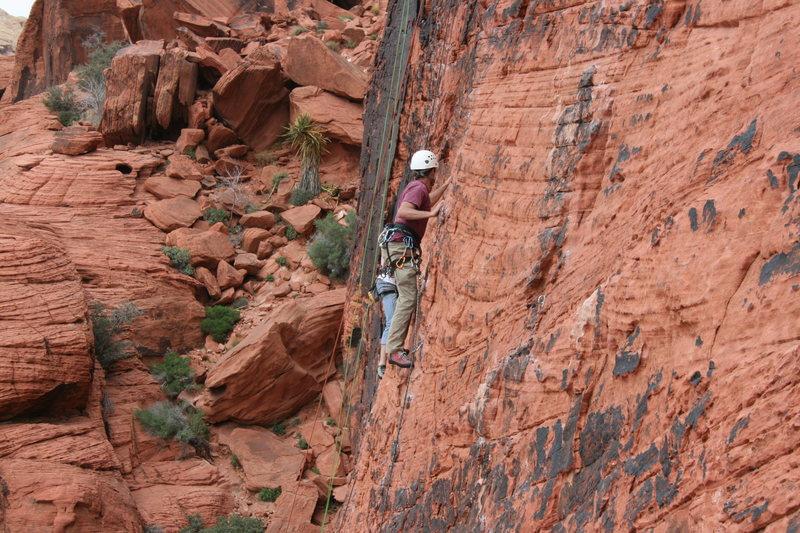 Rock Climbing Photo: Nathen Sacred Undergarment Squeeze Job