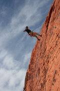 Rock Climbing Photo: Agina lowering off Silk Panties