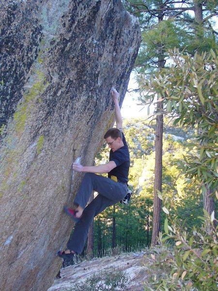 Rock Climbing Photo: A Classic Bob Murray B1+(V6) at the Matterhorn Bou...