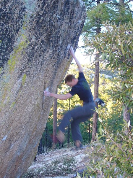 Rock Climbing Photo: Me falling from the crux, one try before I sent. A...