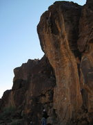 Rock Climbing Photo: Me on the last hold about to whip one move from re...