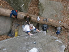 Rock Climbing Photo: James on Master Marley