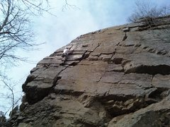 Rock Climbing Photo: Princeton crack , Rick's Rocks