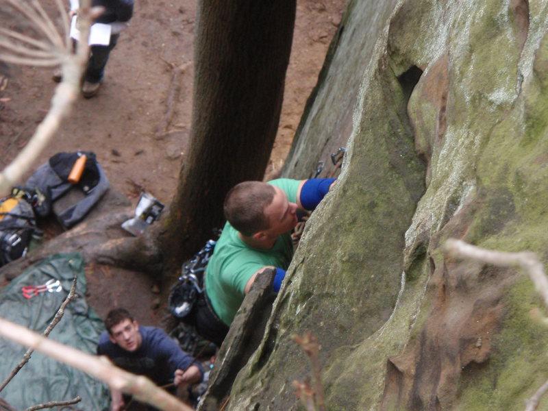 climbing through the slime