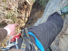 Rock Climbing Photo: at the top of Trouble Clef (9)