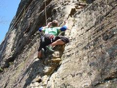 Rock Climbing Photo: a nice no-hands rest