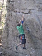 Rock Climbing Photo: one-handed clip