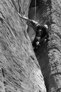 Rock Climbing Photo: James Otey in the corner on When Gravity Fails...