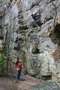 Rock Climbing Photo: Jason McGaven on make a wish on a rainy day...