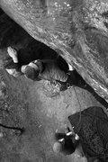 Rock Climbing Photo: Otey starts up the corner as Jason belays...