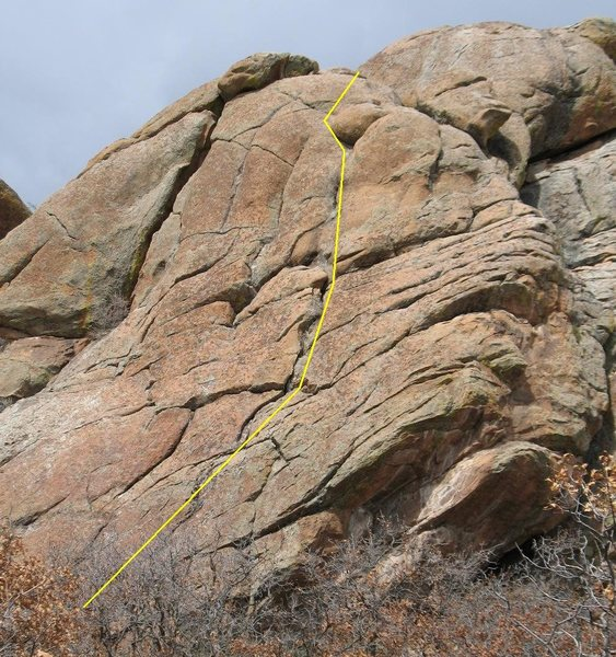 Left or Right (5.8), Far Rock, Tres Piedras, NM.