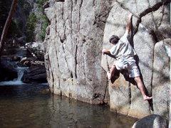 Rock Climbing Photo: Splash Down Traverse in Spring.