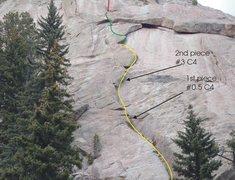 "Rock Climbing Photo: Close up view of ""School Daze"" showing h..."
